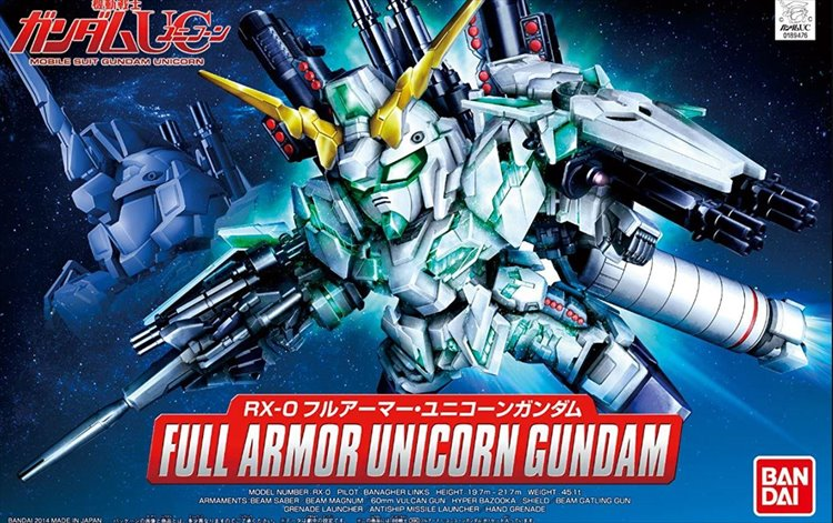 Gundam - SD Full Armor Unicorn Gundam Model Kit