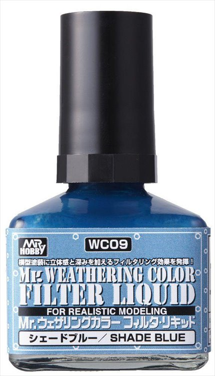 Mr Hobby - Mr Weathering Color Filter Liquid Blue WC09 40ml