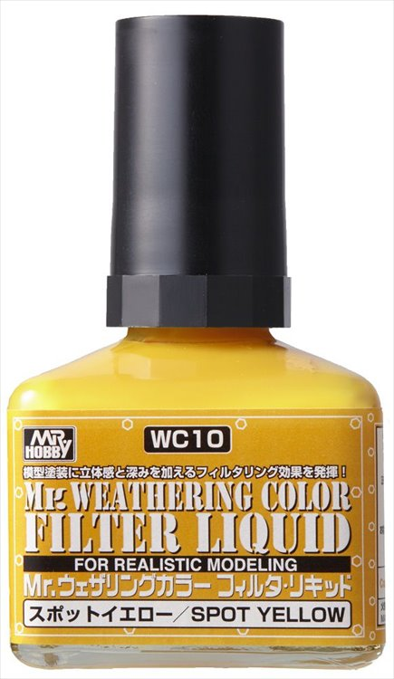Mr Hobby - Mr Weathering Color Filter Liquid Yellow WC10 40ml