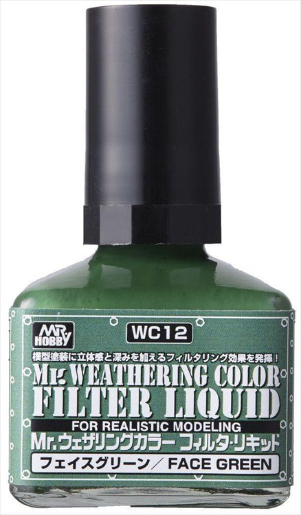Mr Hobby - Mr Weathering Color Filter Liquid Green WC12 40ml