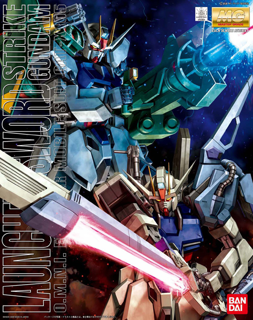 Mobile Suit Gundam Seed - 1/100 MG Strike Gundam Launcher Sword Combo GAT-X105 Model Kit