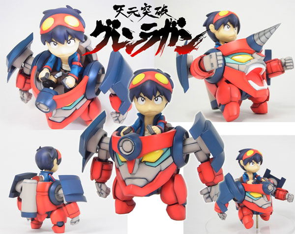 Gurren Lagann- Lagann Metal Boy Unpainted Assembly Resin Kit