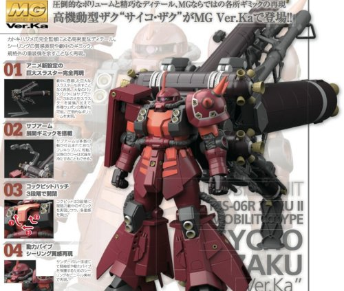 Gundam Thunderbolt - 1/100 MG Psycho Zaku Ka Ver. Model Kit