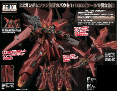 Gundam Reborn One Hundred - 1/100 RE ZZ Gundam AMX-107 Bawoo Model Kit