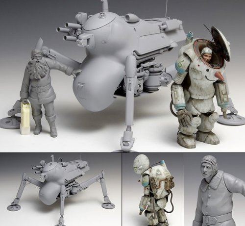Ma.k - 1/20 Winter Mute Set H.A.F.S. Gradiator S.A.F.S. Snow Man and Mechanic Model Kit