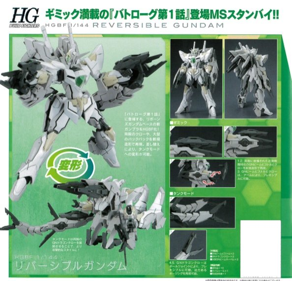 Gundam Build Fighter - HGBF 1/144 Reversible Gundam
