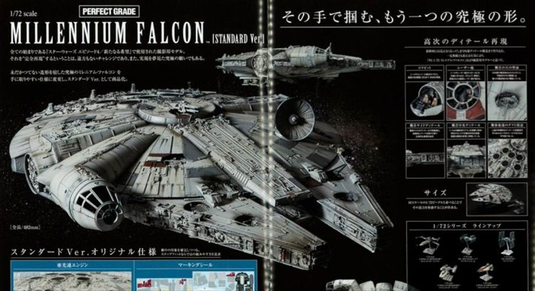 Star Wars - 1/72 PG Millenium Falcon Model Kit