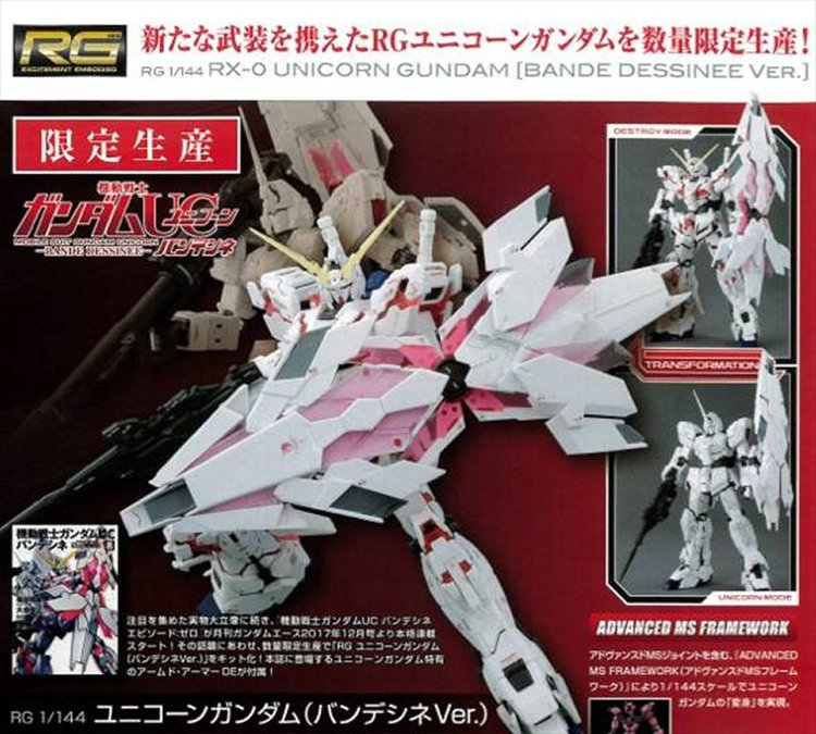Gundam Unicorn - 1/144 RG RX-0 Unicorn Gundam Bande Dessinee Ver. Model Kit