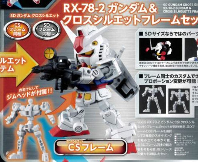 Gundam - Non Scale SD Gundam RX-78-2 Cross Silhouette Frame Set Model Kit