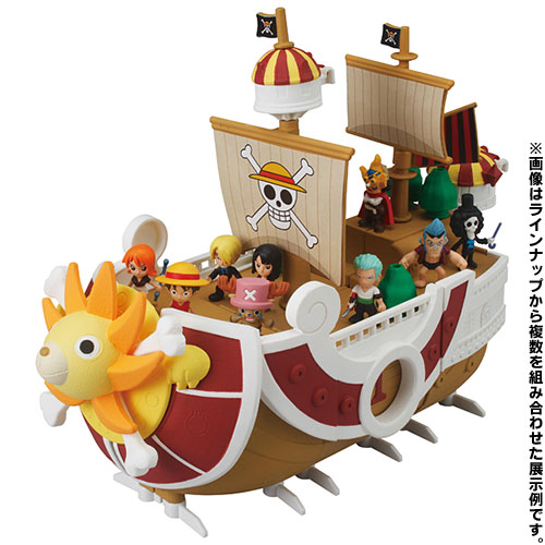 One Piece - Thousand Sunny Memorial Log Ship Set of 6