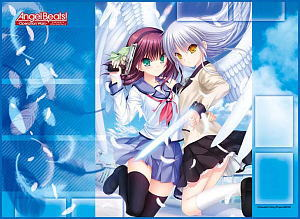 TCG All Purpose Play Mat- Angel Beats Operation Wars- Yuri and Kanade