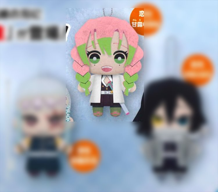 Demon Slayer Mitsuri Kanroji Medium Plush Tl300831519 Toyslogic Otaku For Life Many pieces of mitsuri fan art usually has the character standing near cherry blossom trees, since the petals of the flowers match her hair color perfectly and always seem to make. toyslogic