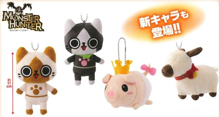 Monster Hunter - Character Plush Set of 4