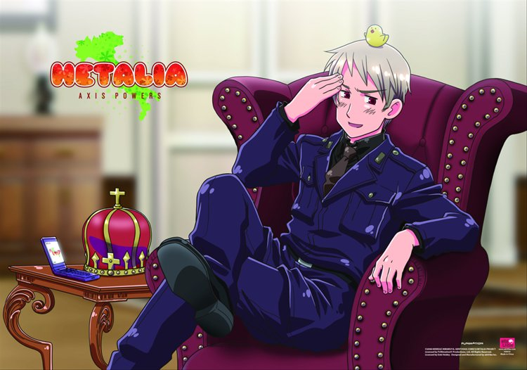 Hetalia Axis Powers - Prussia with Chick Wall Scroll