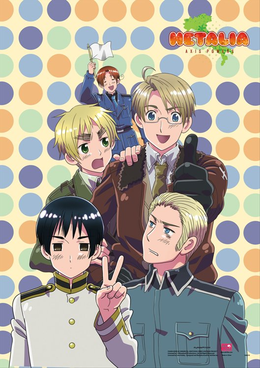 Hetalia- Group 4 Wall Scroll
