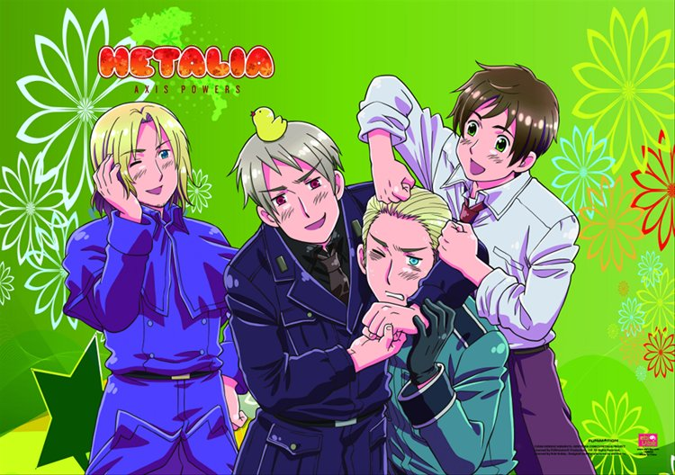 Hetalia- Group A Wall Scroll