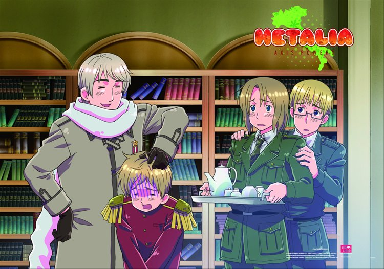Hetalia- Group D Wall Scroll