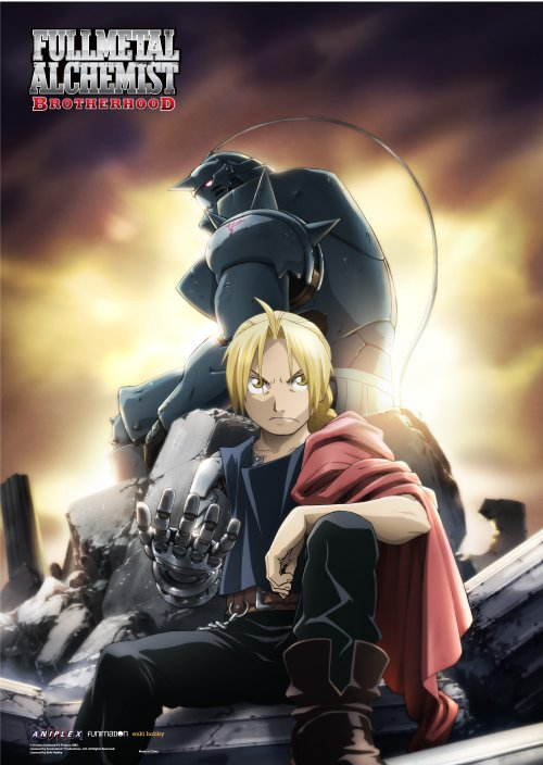 FullMetal Alchemist Brotherhood - Alphonse and Edward Elric Wallscroll Re-Release