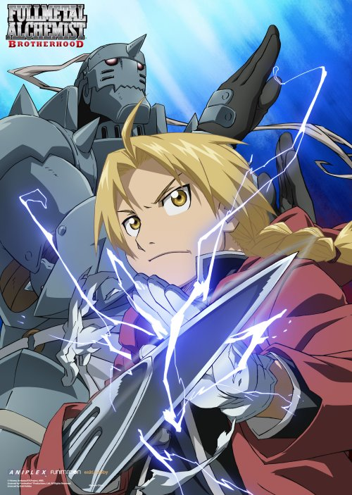 FullMetal Alchemist Brotherhood - Edward and Alphonse Elric Battle Mode Wallscroll Re-Release