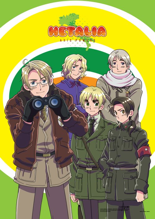 Hetalia- Group F Wall Scroll Re-Release