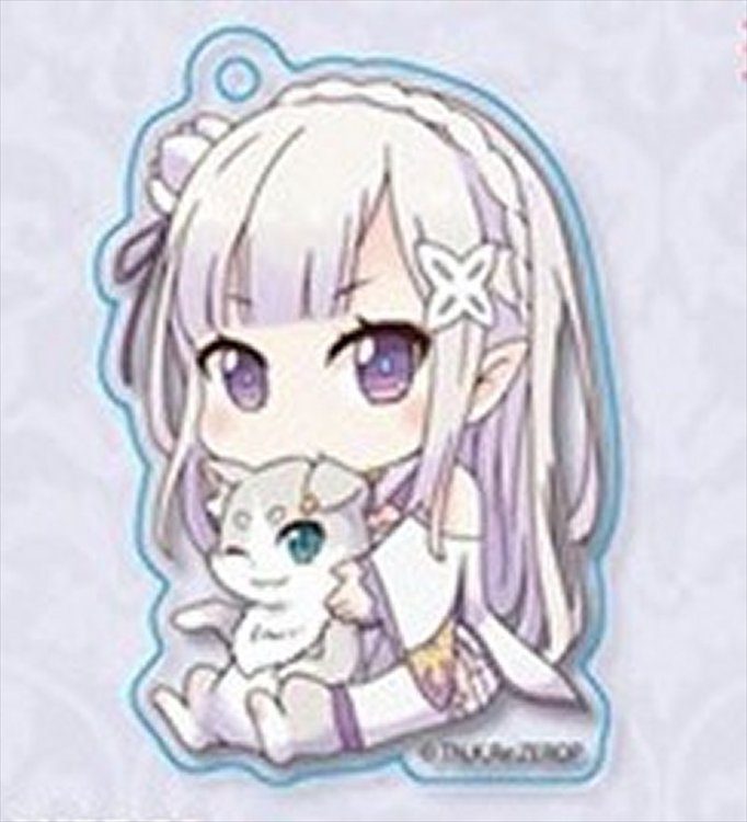 Re:Zero Starting Life in Another World - Emilia w Pack Acrylic Keychain