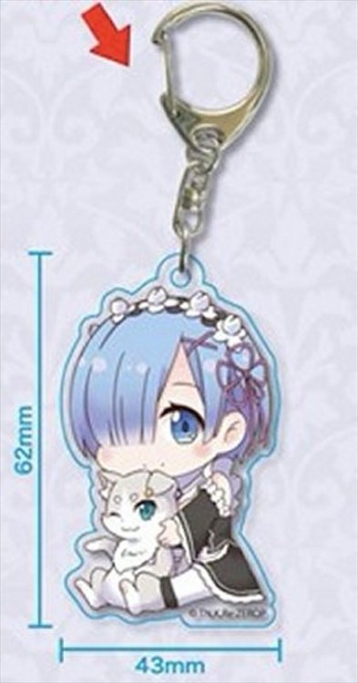 Re:Zero Starting Life in Another World - Rem w Pack Acrylic Keychain