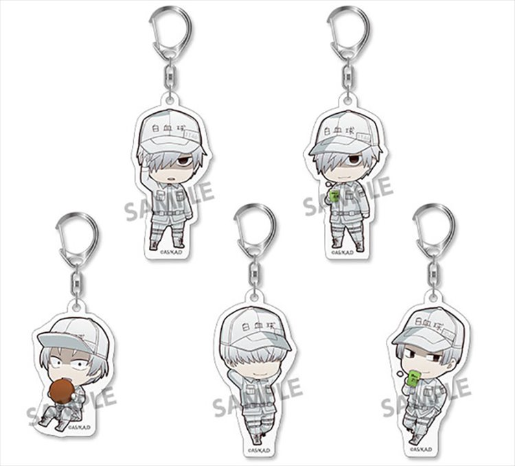 Cells at Work - White Blood Cell Acrylic Keychain SINGLE BLIND BOX