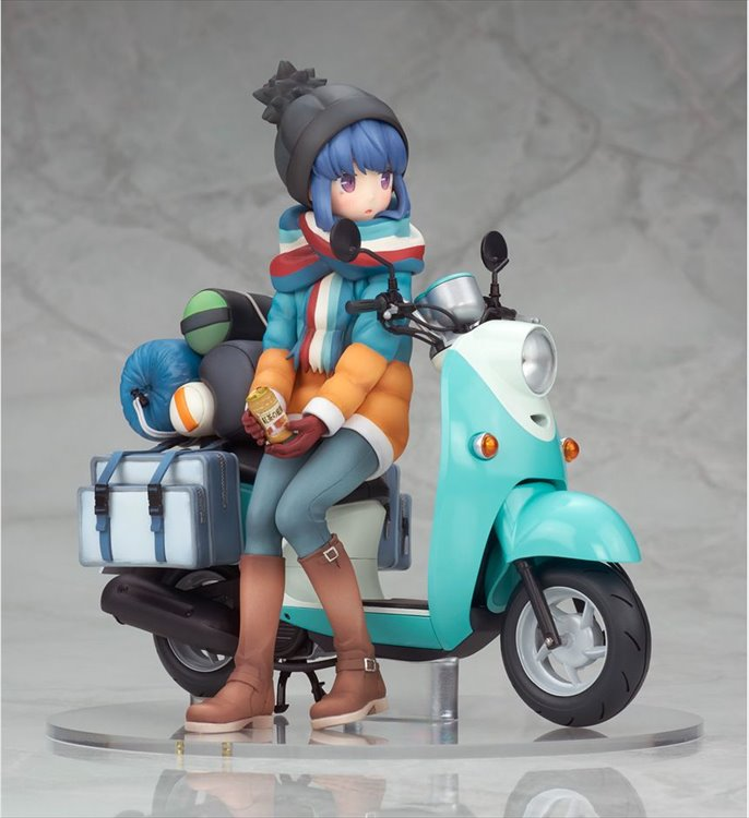 Yuru Camp - 1/10 Rin Shima With Scooter PVC Figure