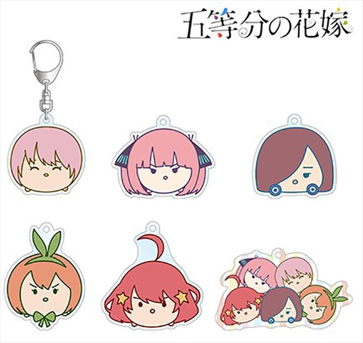 The Quintessential Quintuplets - Chibi Chara Acrylic Keychain SINGLE BLIND BOX