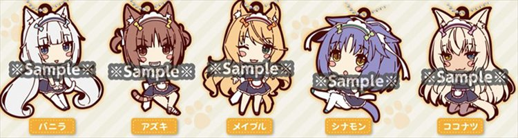 Nekopara - Rubber Mascot Set of 5