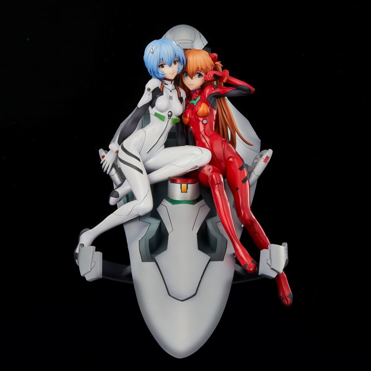 Neon Genesis Evangelion - Non Scale Rei and Asuka Twinmore Object PVC Figure