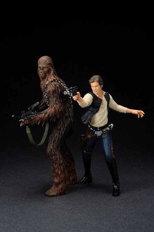 Star Wars - 1/10 Han Solo and Chewbacca ARTFX+ Statue