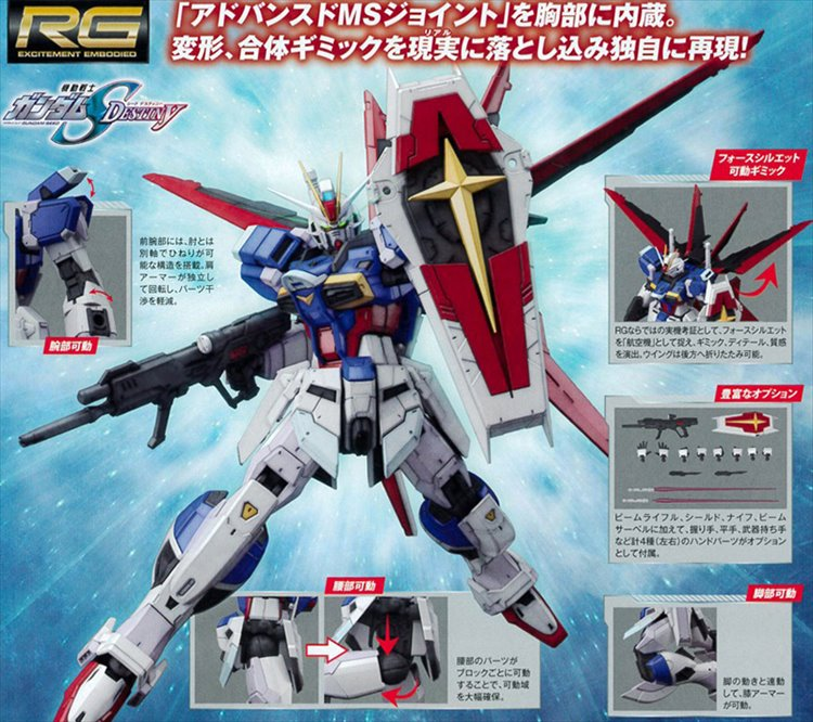 Gundam Seed Destiny - RG 1/144 Force Impulse Gundam [TL300831454 ...