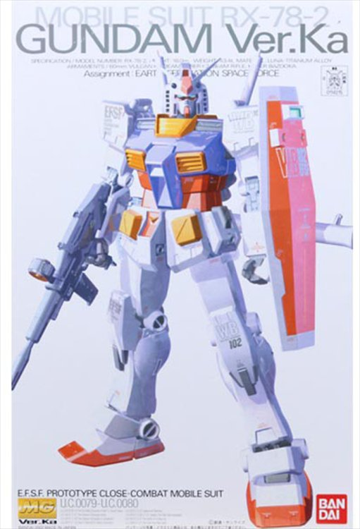 Gundam - 1/100 MG RX-78-2 Ver Ka Model Kit