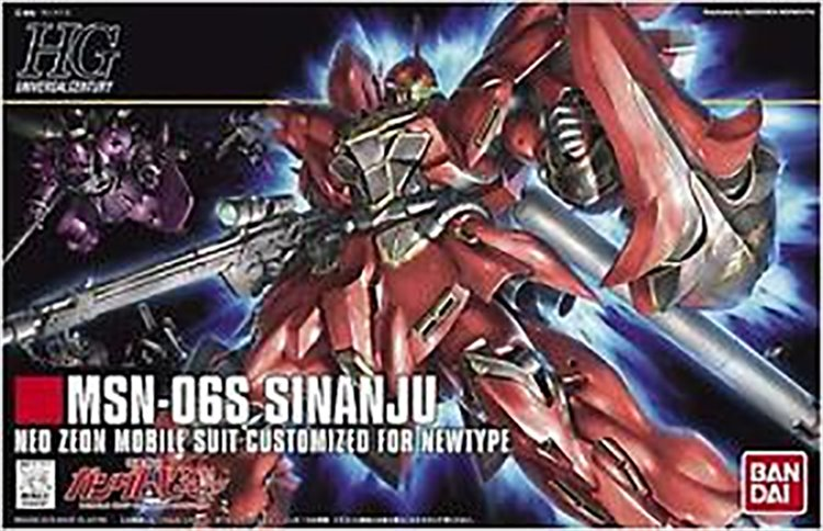 Gundam - 1/144 HG MSN-06S Sinanju Model Kit