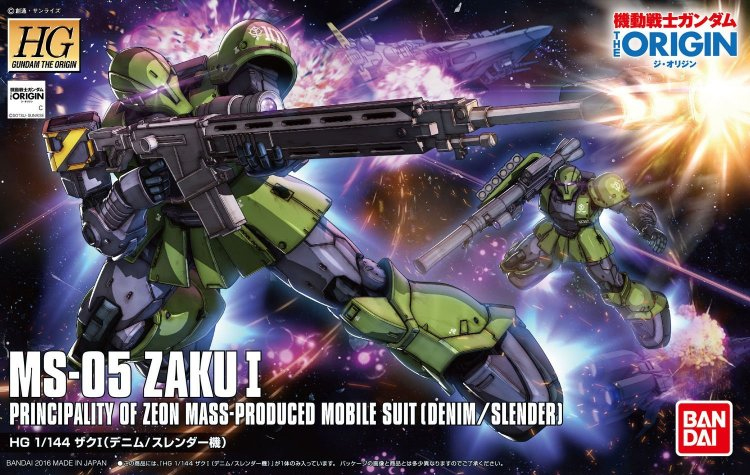 Gundam Origin - 1/144 HG MS-05 Zaku I Model Kit