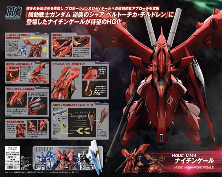 Gundam 1/144 HGUC MSN-04II Nightingale Model Kit