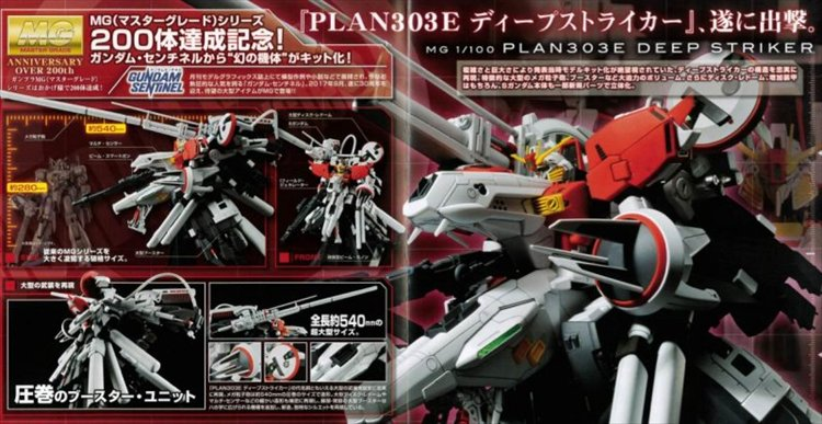 Gundam Sentinel - 1/100 MG PLAN303E Deep Striker Model Kit